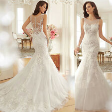Sexy French Lace Mermaid Tailing Wedding Dress Bridal Gown