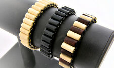 Beaded Men Wooden Surfer Wristband Bracelet Handmade Multi Colours