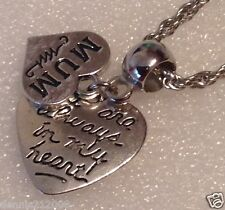 Charm necklace Bracelet European Clipon Keyring  heart Mum memorial loss CN113