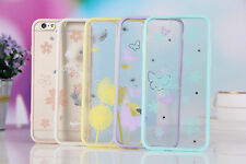Fashion Thin Clear Soft Rubber Edge Hard Back Case Cover for iPhone 6/6plus