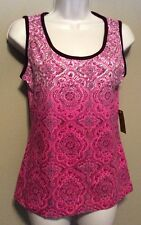 """Women's Activewear """"Made For Life"""" pink tank top sleeveless NWT"""