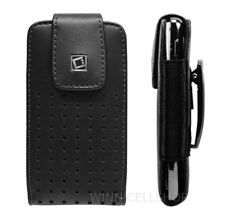 Premium Vertical Leather Holster Case Pouch Fixed Swivel Clip for HTC Cell Phone