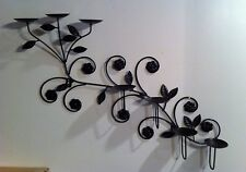 7 Candle Wall Candle Holder Metal Wall Sconce