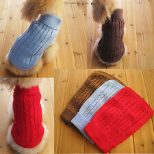 Cute Pet Dog Warm Sweater Clothes Puppy Cat Knitwear Costume Coat Apparel new r