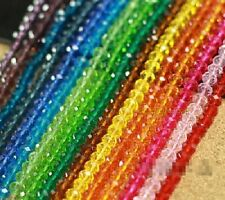 Wholesale 100Pcs New 12 Colors Swarovski Crystal Loose Beads 4x6mm Free Shipping