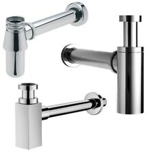 BATHROOM CHROME BASIN SINK TAP BOTTLE WASTE TRAP SELECTION SQUARE ROUND