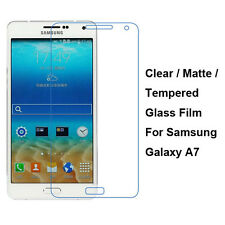 New Tempered Glass / Clear / Matte Screen Protector Film For Samsung Galaxy A7