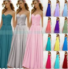 New Formal Long Evening Ball Gown Party Prom Bridesmaid Dresses Stock Size 6-18