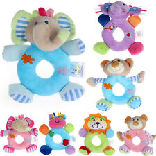 Baby Girls Boy Infant Hand Rattle Animal Soft Plush Doll Educational Toys fad