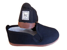 LADIES BLACK FLOSSY STYLE CANVAS PUMPS MADE IN SPAIN UNISEX