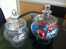 BONBON FOOTED GLASS JAR PARTY WEDDING SWEETS TABLE CENTERPIECE JARS 25CM / 30CM