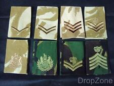 10 Pairs of British Military Army Assorted Rank Slides, Desert or Woodland