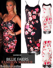 WOMENS LADIES CELEBS BILLIE FAIERS CAMI LACE FLORAL PRINT MIDI DRESS SIZE 8-16
