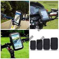 Waterproof Case Cover Bag Pouch Bike Bicycle Handlebar Mount Holder Cradle Black