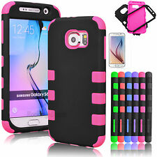 Hybrid Shockproof Dirt Dust Proof Hard Case Cover For Samsung Galaxy S6 + Film