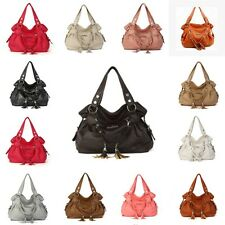 New Fashion Women PU Leather Handbag Shoulder Bag Tote Purse