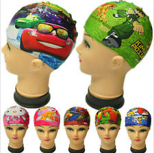 1pcs Lycra Hot Cartoon Swimming Bathing Cap Hat for Children Kids Boy & Girl