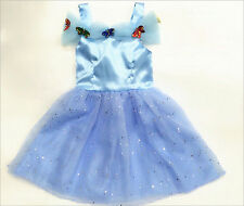 2015 Baby Sandy Girls Princess Movies Cinderella Costume Gown Dress For 2-7Y UK
