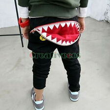 Kids Children Mouth Tooth Zip Harem Trousers Toddlers Pants Costume 2-7Years New