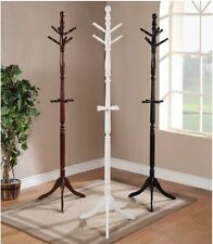 """Coat Rack Hat Wood 6 Hooks Clothing Stand Home Office 72"""" H Cherry White Black"""