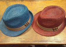 Stetson Sts35 Genuine Fedora Raffia Taft Straw Summer Brand Hats New with Tags