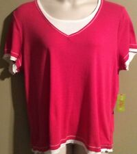 """Women's Plus Size """"Made For Life"""" Activewear Sort sleeve top shirt Pink NWT"""