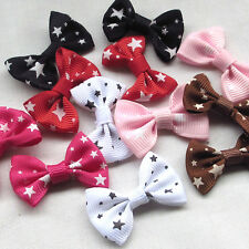 300/80pcs U pick Grosgrain Ribbon Bows Flower star Appliques Wedding Craft