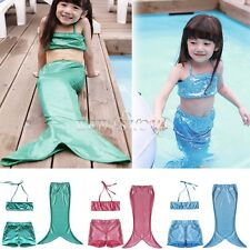 Little Mermaid Tail Bikini Top Enfants Filles Maillots de Bain Swimsuit Sirène