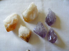 NATURAL CRYSTAL POINTS AMETHYST POINT CITRINE POINT SMALL OR MEDIUM SIZE
