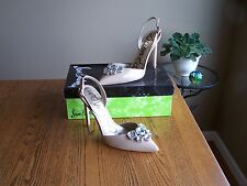 SAM EDELMAN WOMEN'S MARK FASHION SLING BACK IN NUDE PATENT IN SIZES NIB