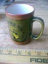 TOYOTA SERVES YOU RIGHT VINTAGE CUP COFFEE MUG FORKLIFT