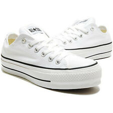 CONVERSE Chuck Taylor All Star Shoes Canvas Sneakers Platform 107391F White