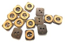 """2 SHADES 2 Holes COCONUT SHELL Button Sewing Scrapbook 16 mm (5/8th"""") Size 24"""