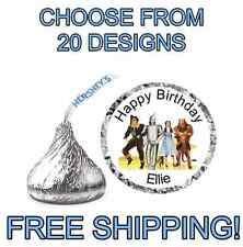 Personalized Hersheys Kisses Wizard of Oz Birthday Stickers Labels Goody Bag