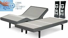 SPLIT KING LEGGETT & PLATT SCAPE ADJUSTABLE BED W/  10IN TWIN XL GEL MATTS