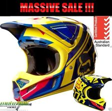 Fox 14 V3 Image LE Blue Pink MX Helmet Race Wear Motocross OffRoad Dirt Bike