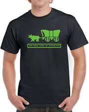 202 Died of Dysentery mens T-shirt Oregon video game trail vintage 80s computer