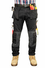 Mens Cargo Combat Work Trousers Tuff Multi Pocket Military Army Trousers