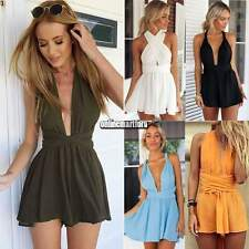 HOT Women Backless Bandage Playsuit Party Gown Jumpsuit&Romper Trousers Clubwear