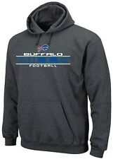 Buffalo Bills NFL Majestic Squib Kick Mens Pullover Hoodie Charcoal Big Sizes