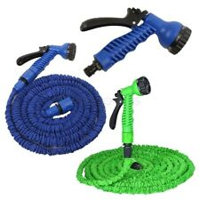 Latex 25 50 75 100 FT Expanding Flexible Garden Water Hose + Spray Nozzle