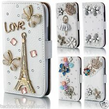 Wallet Flip Diamond Bling Jewel Case Cover for Samsung Galaxy S3 S4 Mini S5
