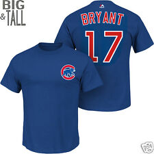Chicago Cubs Kris Bryant #17 Jersey Style Cotton T-Shirt 3X 4X 5X 6X BIG & TALL