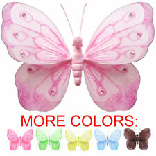 Wall Butterflies Decoration Hanging Butterfly Baby Shower Bathroom Party Ceiling