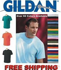 Gildan T-SHIRTS BLANK BULK LOT Colors or White S-XL Wholesale