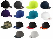 New Era 9Fifty Flat Brim Snapback Hat / Cap - Blank - White, Black, Royal, Navy