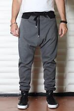 Gray, Black or White Sweatpants - Mens Joggers or Drop Crotch /Harem Pants