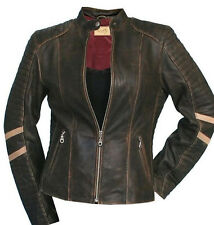 Scully Women's Leather Racing Stripe Jacket. Charcoal S/M/L/XL/XXL