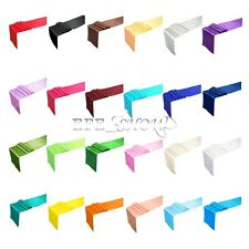Quality 1X Satin Table Runner 12' x 108' Wedding Party Decoration Various Colors