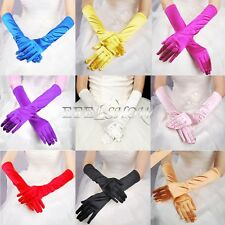 Fashion Satin Long Gloves Opera Wedding Bridal Evening Party Show Costume GLOVES